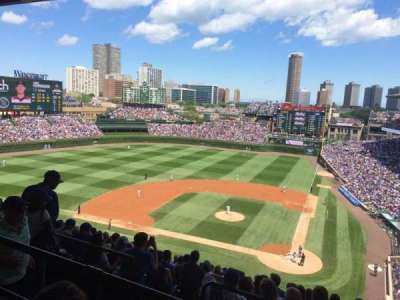 Wrigley Field, section: 517, row: 2, seat: 107