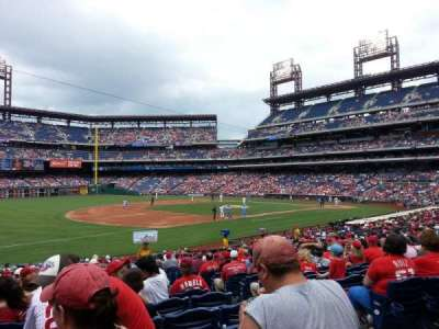 Citizens Bank Park, section: 135, row: 28, seat: 4