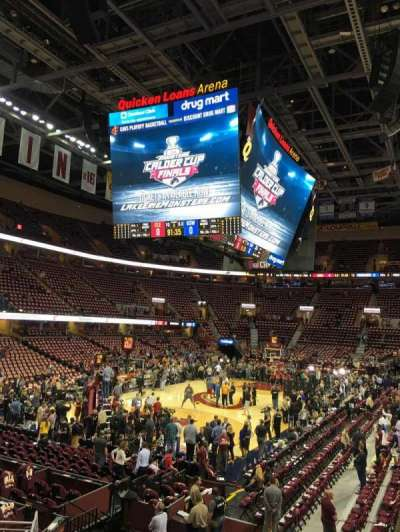 Quicken Loans Arena, section: 103, row: 12, seat: 8