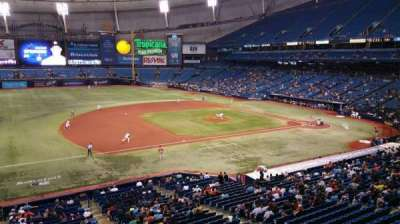 Tropicana Field, section: 215, row: A, seat: 18
