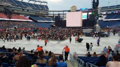 Gillette Stadium, section: 140, row: 12, seat: 1