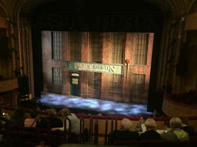 Al Hirschfeld Theatre, section: Right mezzanine, row: G, seat: 2