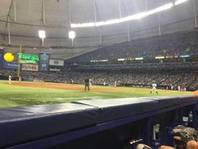 Tropicana Field, section: 125, row: B, seat: 2