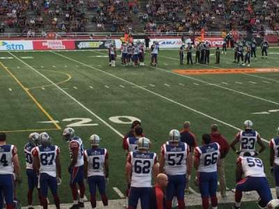 Percival Molson Memorial Stadium, section: X1, row: 4, seat: 15