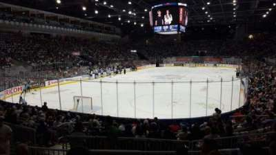 Ricoh Coliseum, section: 114, row: D