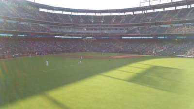 Globe Life Park in Arlington, section: Center field, row: 1, seat: 20