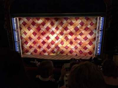 Brooks Atkinson Theatre, section: Front Mezz Center, row: D, seat: 111