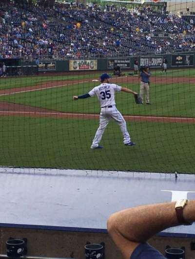 Kauffman Stadium, section: 133, row: F, seat: 7