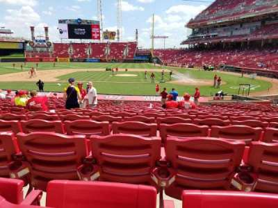 Great American Ball Park, section: 118, row: Y, seat: 9