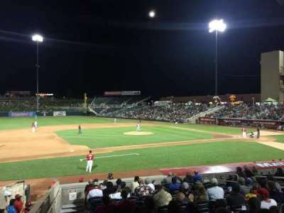 Isotopes Park, section: 113, row: 15