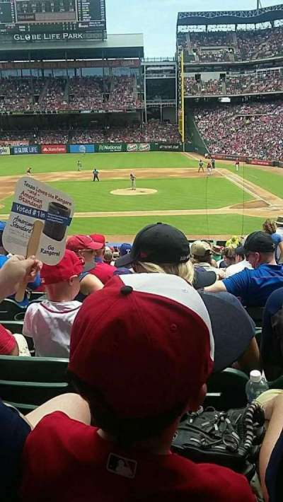 Globe Life Park in Arlington, section: 20, row: 28, seat: 18