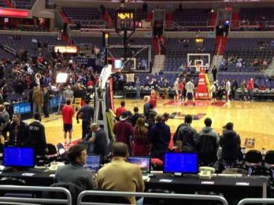 Verizon Center, section: 106, row: G, seat: 11