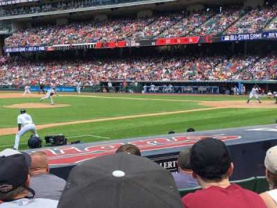 Progressive Field, section: 164, row: K, seat: 5