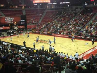 Thomas & Mack Center, section: 114, row: Q, seat: 20
