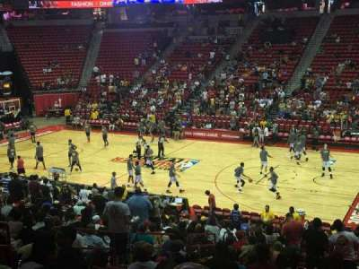 Thomas & Mack Center, section: 115, row: s, seat: 14
