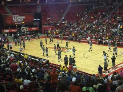 Thomas & Mack Center, section: 114, row: P, seat: 15