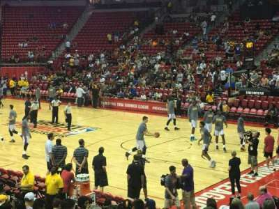 Thomas & Mack Center, section: 114, row: f, seat: 11