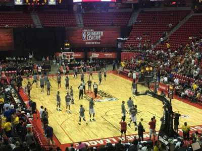 Thomas & Mack Center, section: 113, row: S, seat: 6