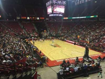Thomas & Mack Center, section: 102, row: N, seat: 13