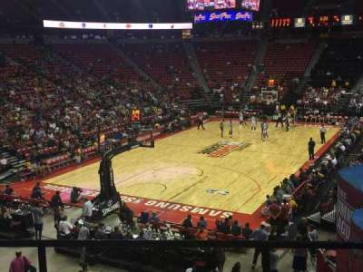 Thomas & Mack Center, section: 121, row: q, seat: 10