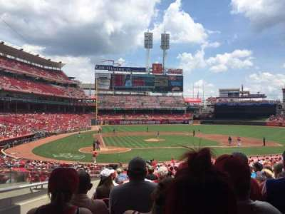 Great American Ball Park, section: 127, row: ii, seat: 18
