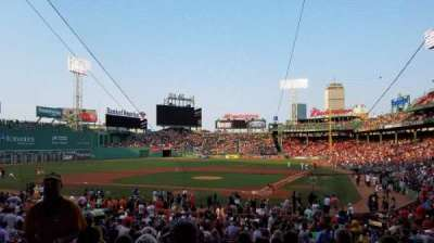 Fenway Park, section: 23, row: 1, seat: 4