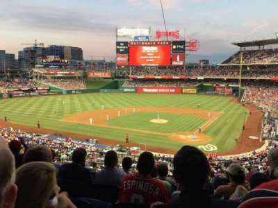 Nationals Park, section: 211, row: F, seat: 7