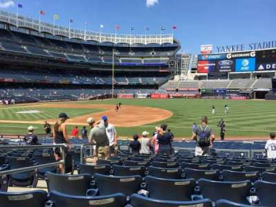 Yankee Stadium, section: 114A, row: 9, seat: 12