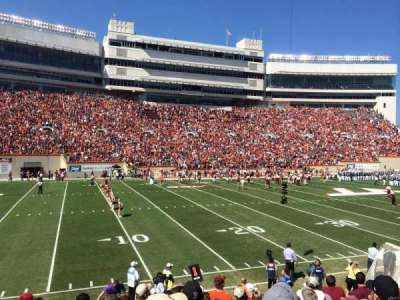 Lane Stadium, section: 17, row: W, seat: 10