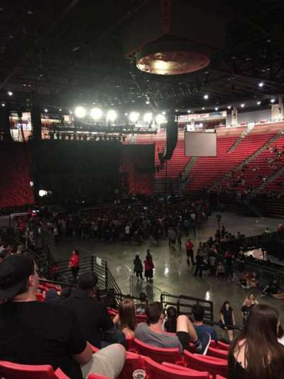 Viejas Arena, section: U, row: 15