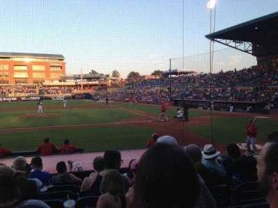 Durham Bulls Athletic Park, section: 107, row: K, seat: 6