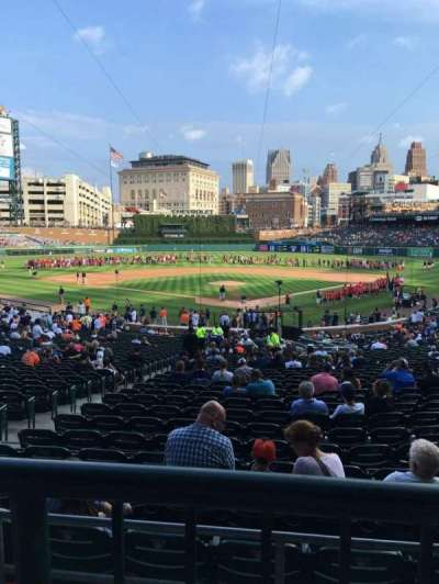 Comerica Park, section: 128b, row: A, seat: 1