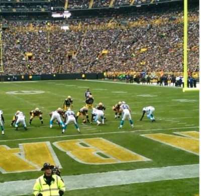 Lambeau field section 101 row 8 seat 4 home of green bay packers