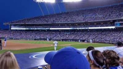 Kauffman Stadium, section: 116, row: C, seat: 5