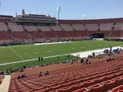 Los Angeles Memorial Coliseum section 25
