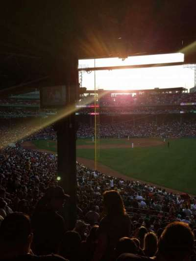 Fenway Park, section: GrandStand 4, row: 13, seat: 21