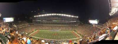 Paul Brown Stadium, section: 310, row: 22, seat: 5