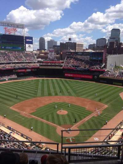 Target Field, section: 316, row: 4, seat: 1