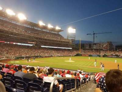 Nationals Park, section: 130, row: Z, seat: 18