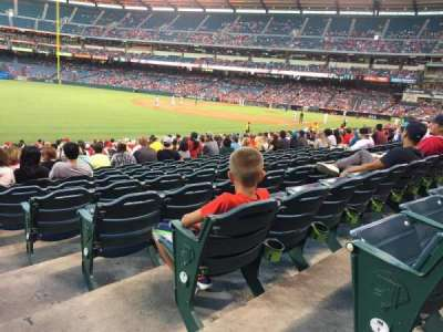 Angel Stadium, section: F105, row: V, seat: 18