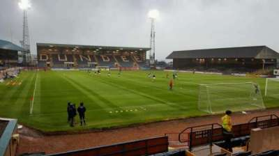 Dens Park Stadium, section: Bobby Cox Stand, row: L, seat: 3