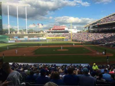 Kauffman Stadium, section: 223, row: CC, seat: 5