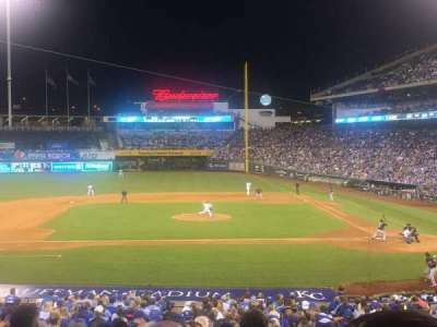 Kauffman Stadium, section: 223, row: CC, seat: 6
