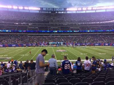 MetLife Stadium, section: 113, row: 18, seat: 29