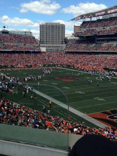 Paul Brown Stadium, section: 201, row: 2, seat: 1