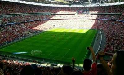 Wembley Stadium, vak: 536, rij: 15, stoel: 298