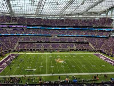 U.S. Bank Stadium, section: 313, row: A, seat: 10