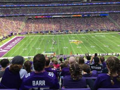 U.S. Bank Stadium, section: C9, row: 9, seat: 8