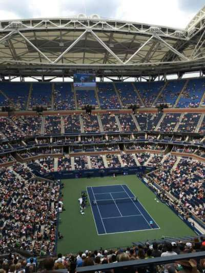 Arthur Ashe Stadium, section: 338, row: 2, seat: 9