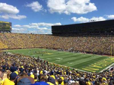 Michigan Stadium, section: 18, row: 57, seat: 27